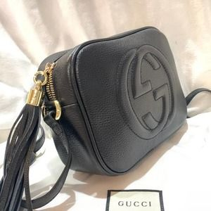 G. ucci Brand New Soho Small Leather Disco Shoulder Bag